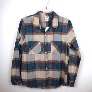 Tilly's Destined NEW Flannel Button Up Large NWT